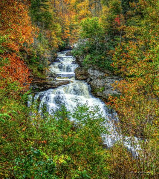 Photograph - Majestic Drop Cullasaja Falls North Carolina Waterfall Art by Reid Callaway