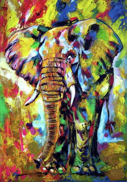 Wall Art - Painting - Majestic Elephant by Kovacs Anna Brigitta