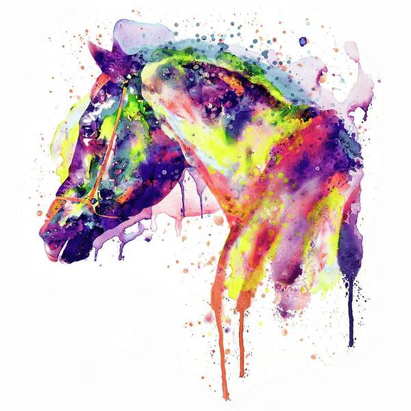 White Horse Head Wall Art - Painting - Majestic Horse by Marian Voicu