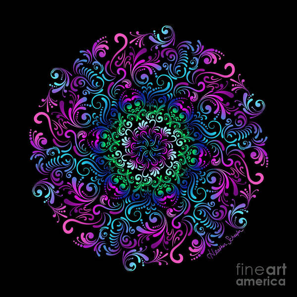 Digital Art - Majestic Kaleidoscope by Heather Schaefer