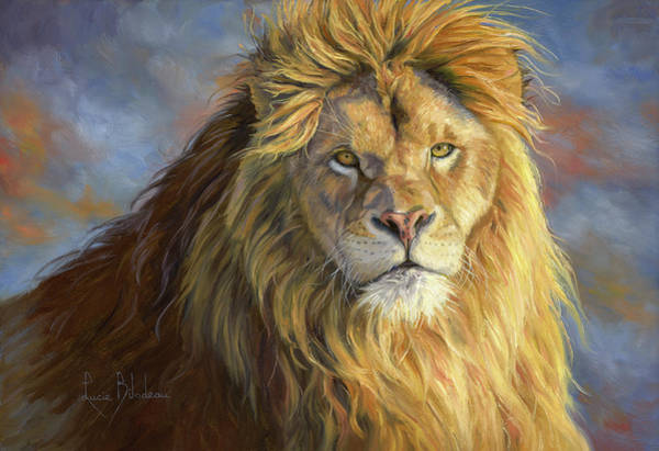 Lions Painting - Majestic King by Lucie Bilodeau