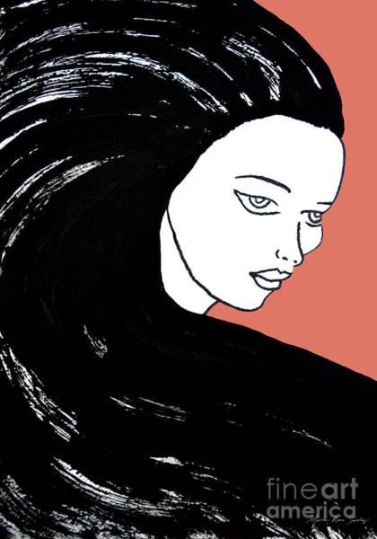 Painting - Majestic Lady J0715d Calypso Coral 17-1744 Ee5c6c  De7766 by Mas Art Studio