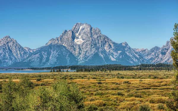 Photograph - Majestic Mount Moran by John M Bailey