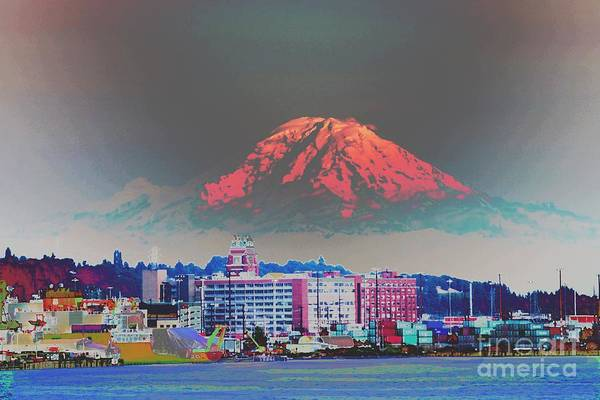 Tacoma Painting - Majestic Mount Rainier by RJ Aguilar