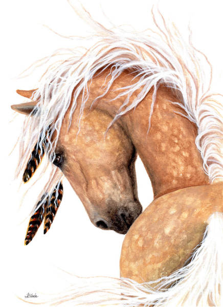 Champagne Painting - Majestic Palomino #139 by AmyLyn Bihrle