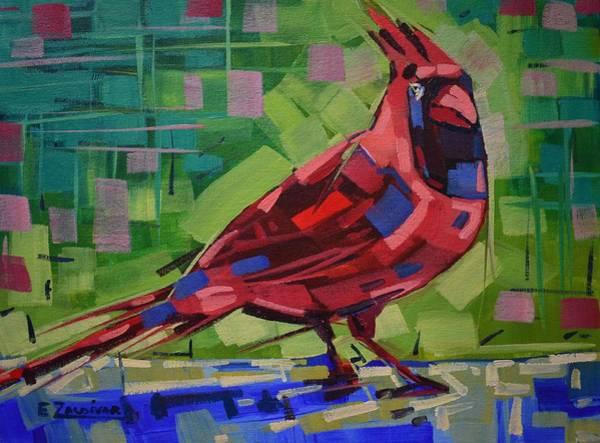 Majestic Red Bird Art Print