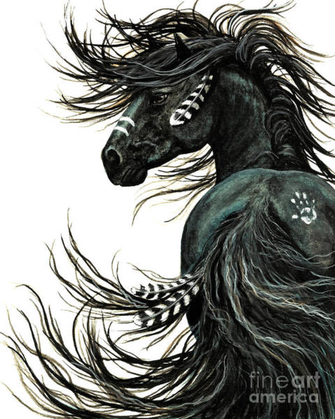 Wild Horse Painting - Majestic Spirit Horse by AmyLyn Bihrle