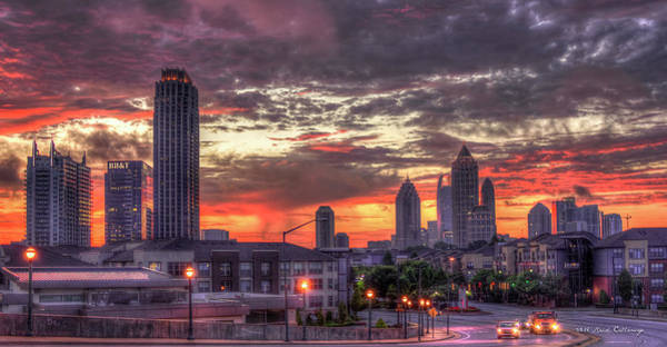 Georgia Power Company Photograph - Majestic Sunrise Midtown Atlanta by Reid Callaway