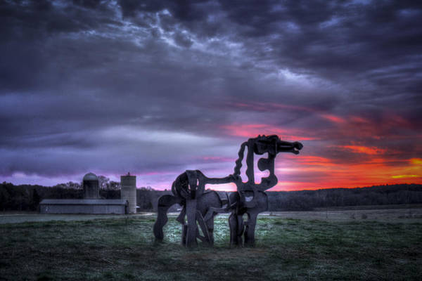 Time Magazine Photograph - Majestic Sunrise The Iron Horse by Reid Callaway