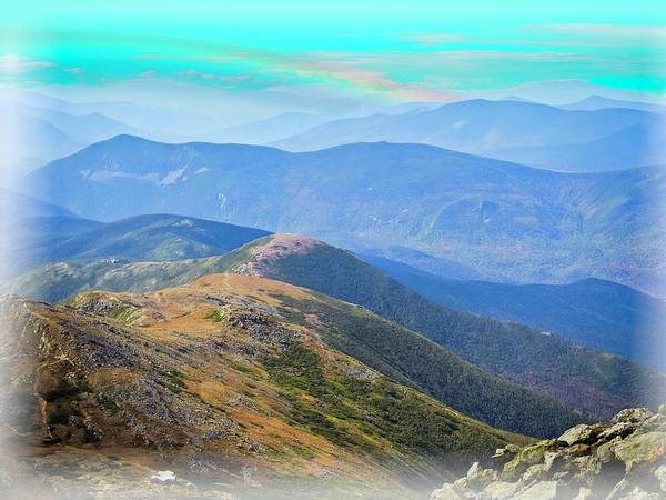 Digital Art - Majestic White Mountains by Rusty R Smith