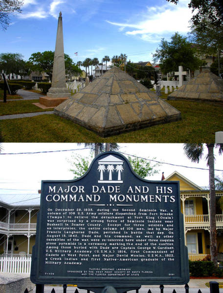 Wall Art - Photograph - Major Dade And His Command Monument  by David Lee Thompson