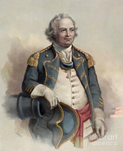 Major Painting - Major General Israel Putnam by Dominique C Fabronius