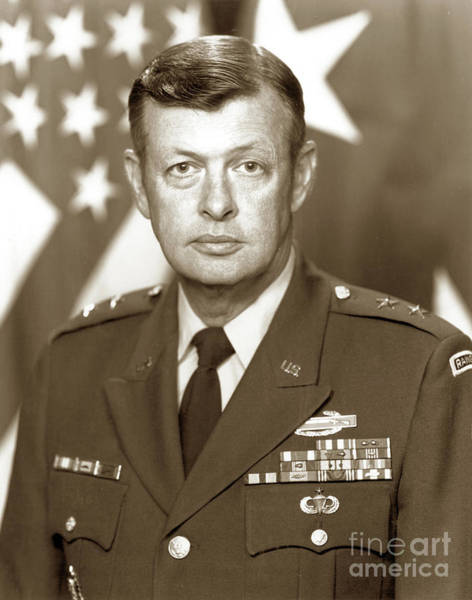 Photograph - Major General James E. Moore Jr.  Fort Ord 1982 by California Views Archives Mr Pat Hathaway Archives