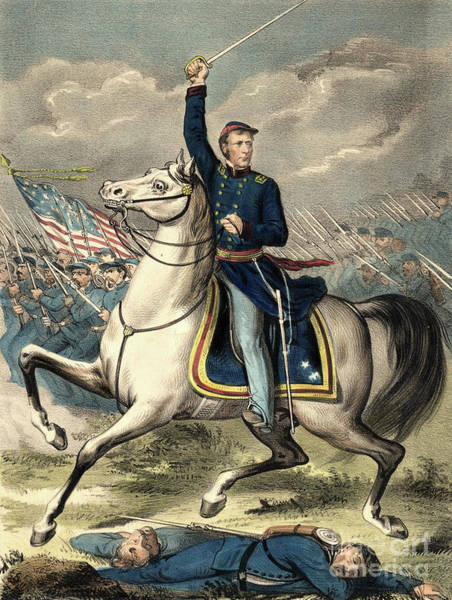 Major Painting - Major General Joseph Hooker by American School