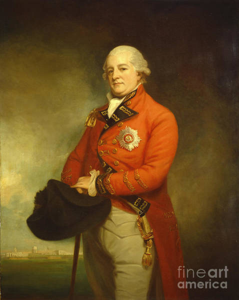Romney Painting - Major-general Sir Archibald Campbell by George Romney