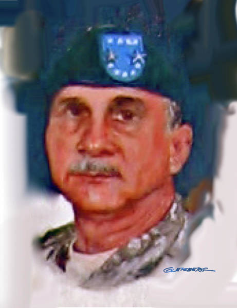 Department Of The Army Wall Art - Painting - Major General William H. Wade II by Craig A Christiansen