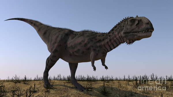 Abelisauridae Wall Art - Digital Art - Majungasaurus In A Barren Environment by Kostyantyn Ivanyshen