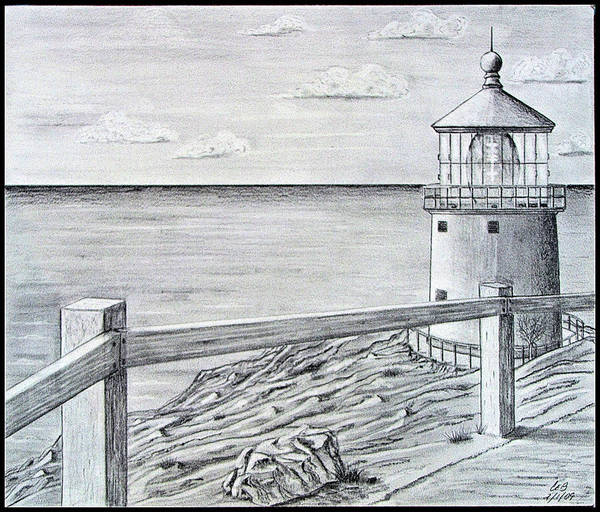 Oahu Drawing - Makapuu Lighthouse by Chad Brittain