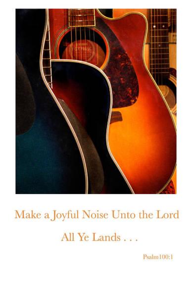 Make A Joyful Noise Art Print by Linda Merkel
