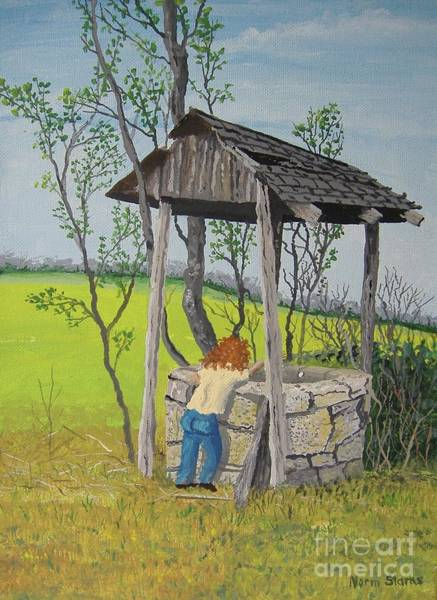 Wishing Well Painting - Make A Wish by Norm Starks