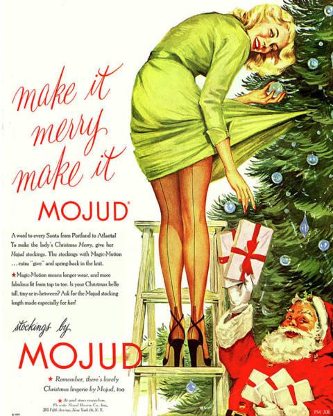 Santa Mixed Media - Make It Merry by Long Shot