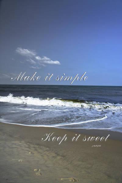 Photograph - Make It Simple by Judy Hall-Folde