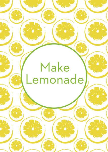 Yellow Mixed Media - Make Lemonade 3- Art By Linda Woods by Linda Woods