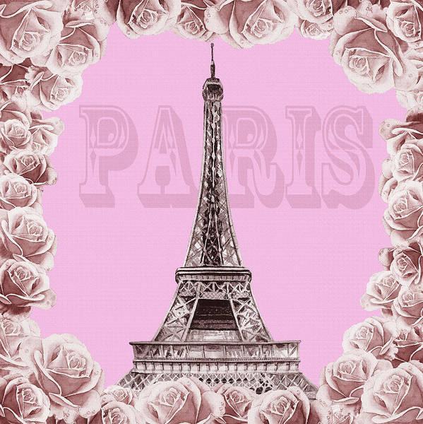 Painting - Make Me Pink Paris by Irina Sztukowski