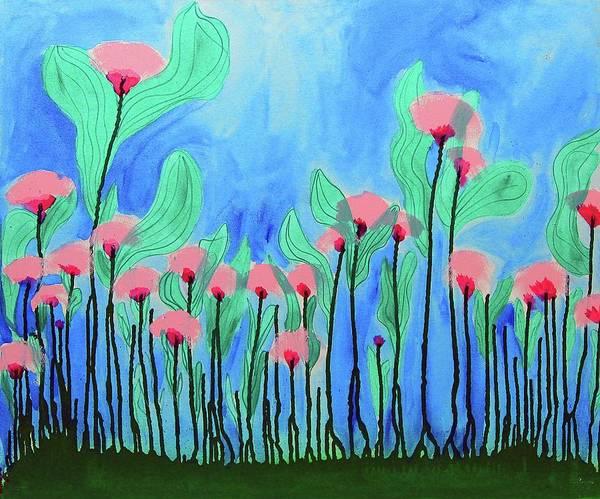 Tulip Bloom Painting - Make Pretend by Keshida Layone