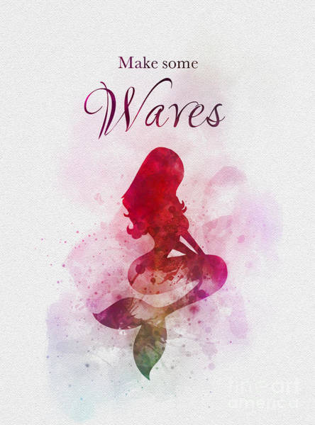 Wall Art - Mixed Media - Make Some Waves by My Inspiration