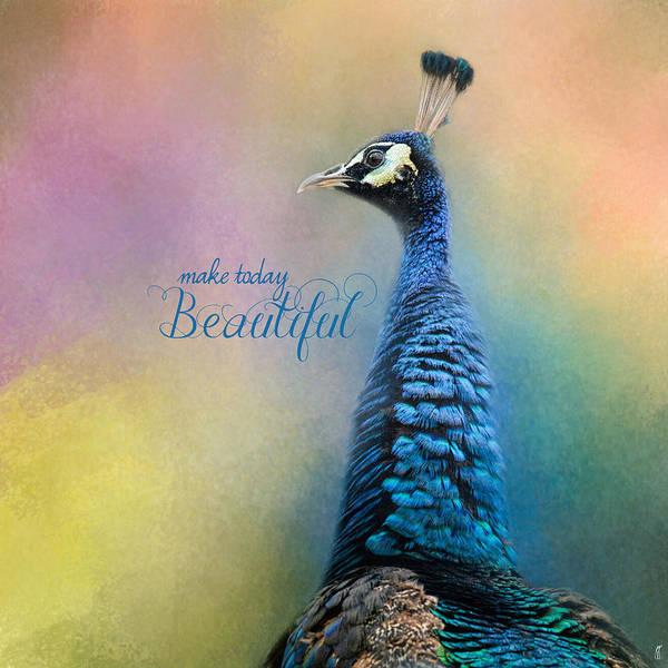 Photograph - Make Today Beautiful - Peacock Art by Jai Johnson