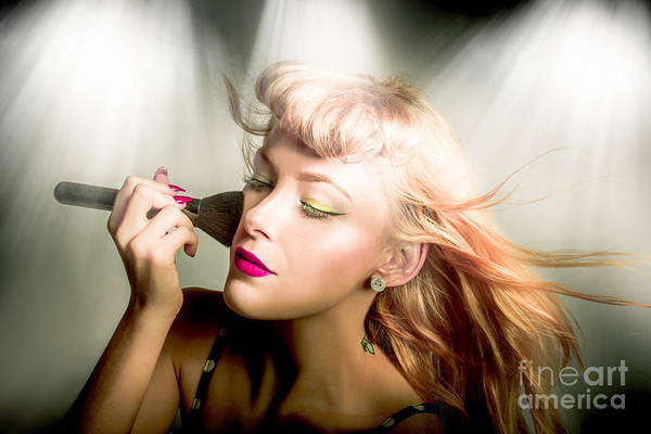 Apply Photograph - Make-up Brush Pinup by Jorgo Photography - Wall Art Gallery