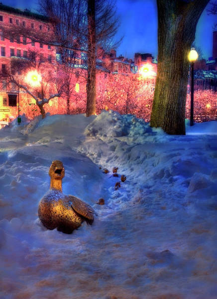 Photograph - Make Way For Ducklings - Boston Public Garden by Joann Vitali