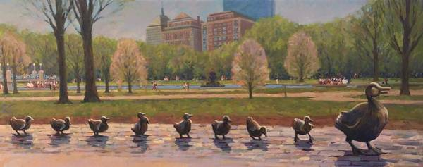 Bronze Painting - Make Way For Ducklings by Dianne Panarelli Miller