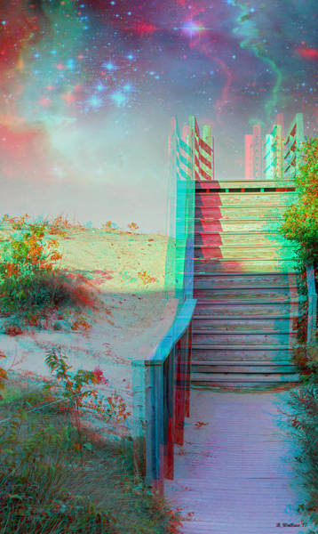 Stereoscopy Digital Art - Make Your Own Heaven - Use Red-cyan 3d Glasses by Brian Wallace