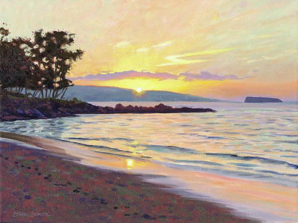 Wall Art - Painting - Makena Sunset by Steve Simon