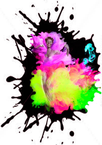 Dorothy Dandridge Digital Art - Making A Splash  by Martha Bennett