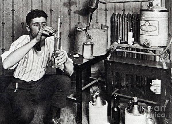 Brewing Photograph - Making Bootleg Liquor by American School