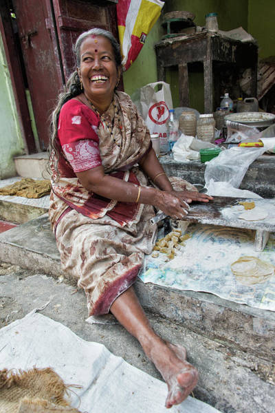 Kerala Photograph - Making Chapatti by Marion Galt