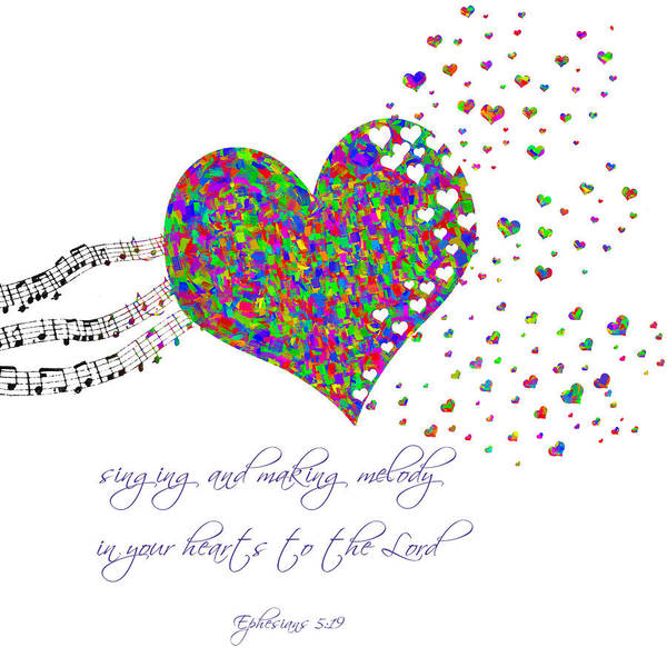 Digital Art - Making Melody In Your Heart by Denise Beverly