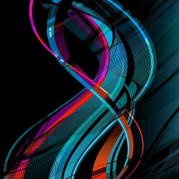 Vibrations Digital Art - Making Music 1-2 by Angelina Tamez