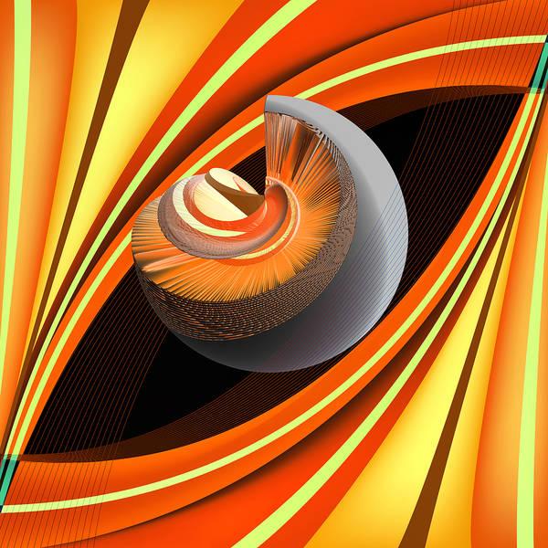 Wall Art - Digital Art - Making Orange Planets by Angelina Tamez