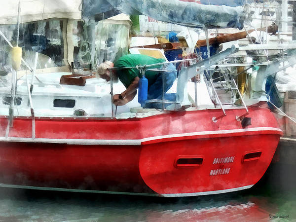 Photograph - Making The Boat Shipshape by Susan Savad