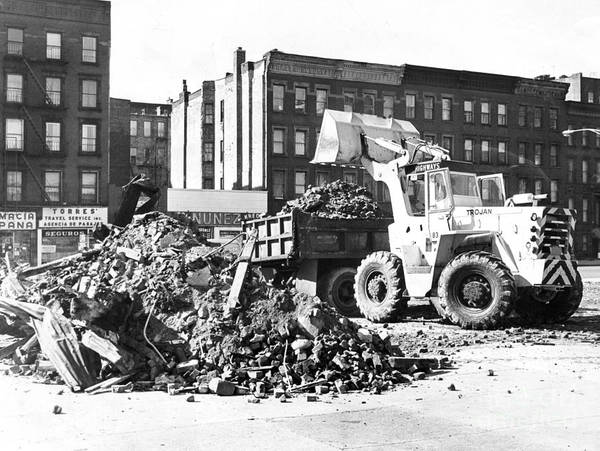 Dozer Photograph - Making Way For A New Playground At E 138th St And Willis Ave New York City. 1966 by Barney Stein