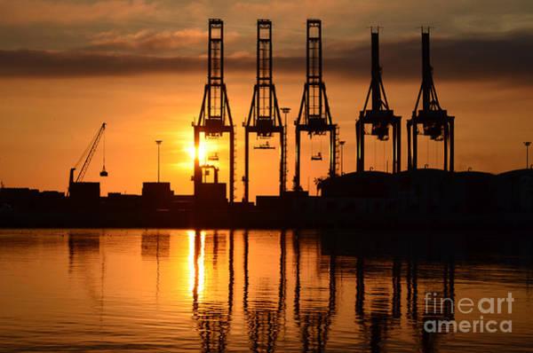 Photograph - Malaga - Costa Del Sol - Andalucia - Spain - Port At Sunrise by Carlos Alkmin