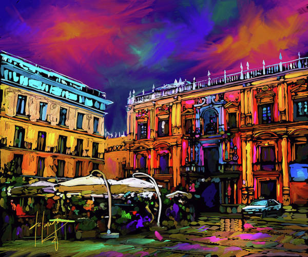 Painting - Malaga, Spain by DC Langer