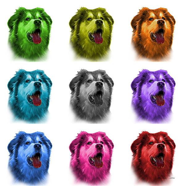 Painting - Malamute Dog Art - 6536 - Wb - M by James Ahn