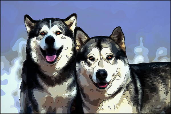 Processing Mixed Media - Malamutes by Alexey Bazhan