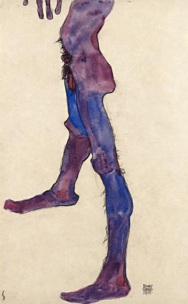 Selfportrait Painting - Male Lower Torso by Egon Schiele