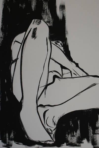 Male Model Drawing - Male Model by Joanne Claxton